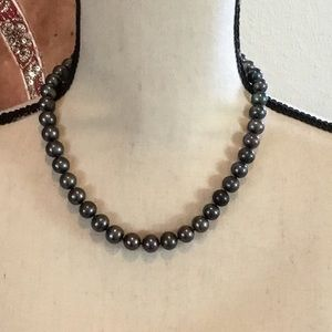 """Jewelry - REAL 18"""" Gray Pearl Necklace 10-11 mm 18"""""""